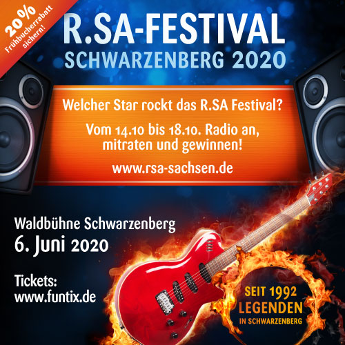 Die Stars zum R.SA-Festival 2020?
