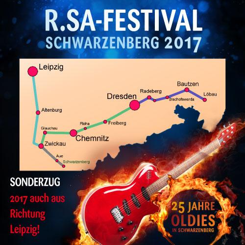 Mit dem Sonderzug zum R.SA-Festival - Schwarzenberg 2017