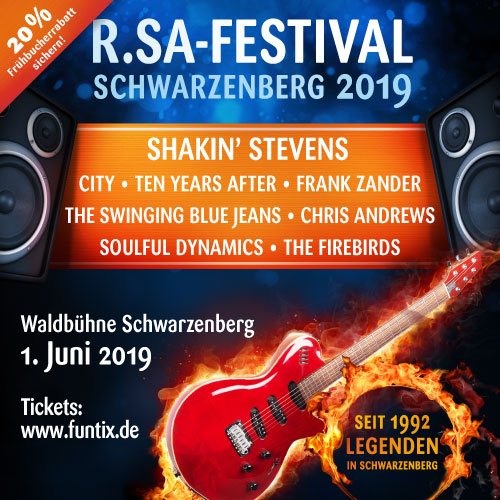 R.SA-Festival 2019 - Vorverkauf gestartet