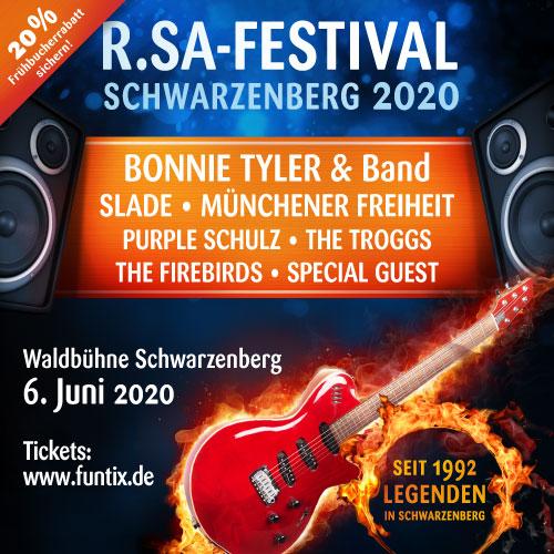 R.SA-Festival 2020 - Vorverkauf gestartet