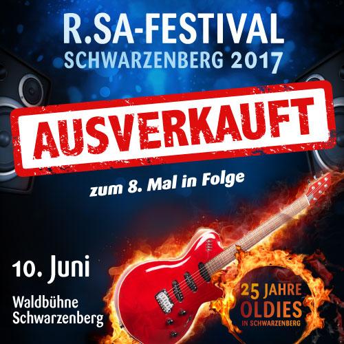 R.SA-Festival das 8. Mal in Folge ausverkauft!
