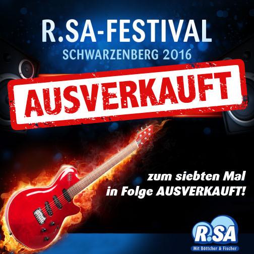 R.SA-Festival das 7. Mal in Folge ausverkauft!