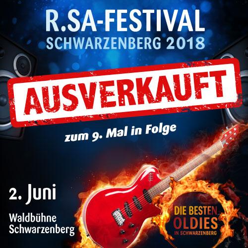 R.SA-Festival das 9. Mal in Folge ausverkauft!