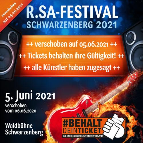 R.SA-Festival verschoben auf 2021