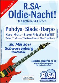 R.SA-Oldie-Nacht 2011 in Schwarzenberg ist ausverkauft!