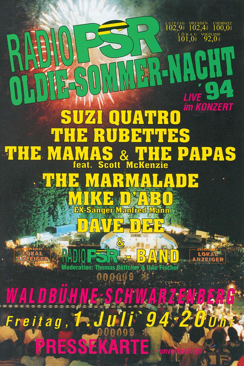 RADIO PSR Oldie-Sommer-Nacht